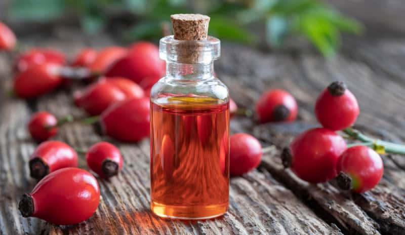 Rosehip seed oil for anti-aging