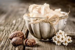 Shea butter to make anti-aging face cream