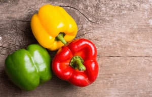 Bell peppers for healthy skin