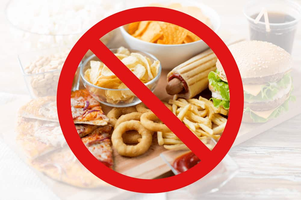 Junk foods bad for skin and gut health