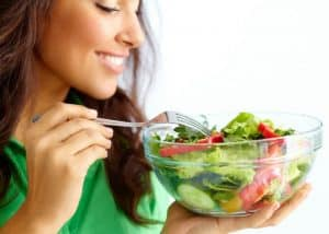 Eating healthy is a part of anti-aging lifestyle