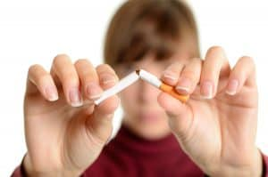 Avoid smoking for healthy skin