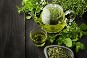 Green Tea in anti-aging night creams